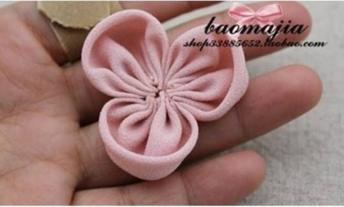 DIY nice fabric flower hair clip-00-05