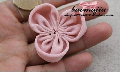 DIY nice fabric flower hair clip-00-05