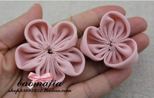 DIY nice fabric flower hair clip-00-06