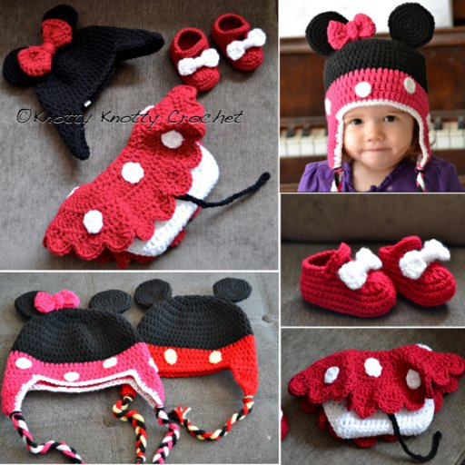 Minnie Little Mouse Baby Set Free Crochet Pattern
