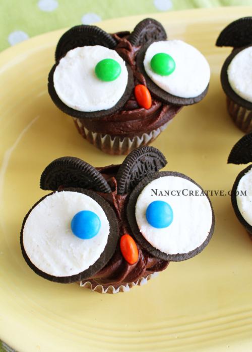 Oreos Owl cupcake Cool Creativities