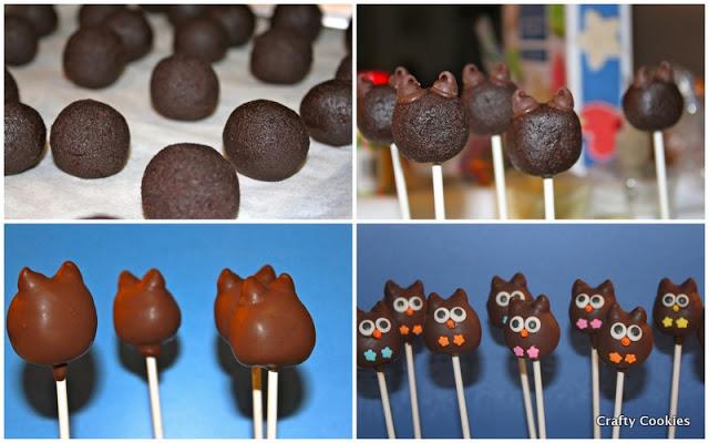 Owl Cake Pops 1