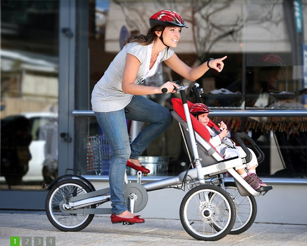2 in 1 Bicycle and Stroller