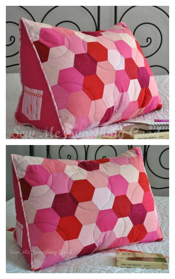 diy cozy backrest pillow with arms. Black Bedroom Furniture Sets. Home Design Ideas