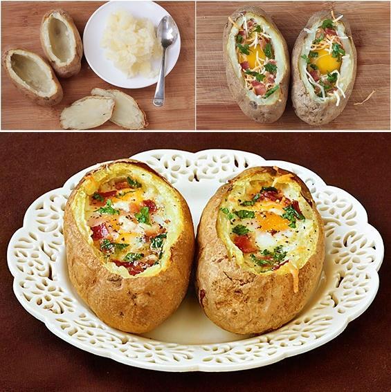 diy-baked-eggs-bacon-in-potato-bowls