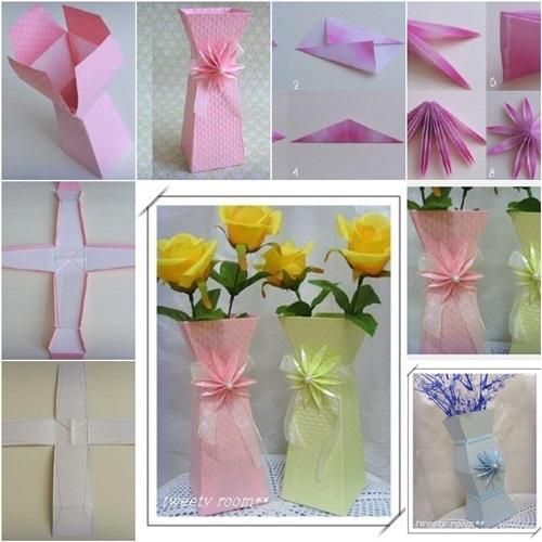 Cool creativity diy beautiful paper flower vase diy beautiful paper flower vase mightylinksfo