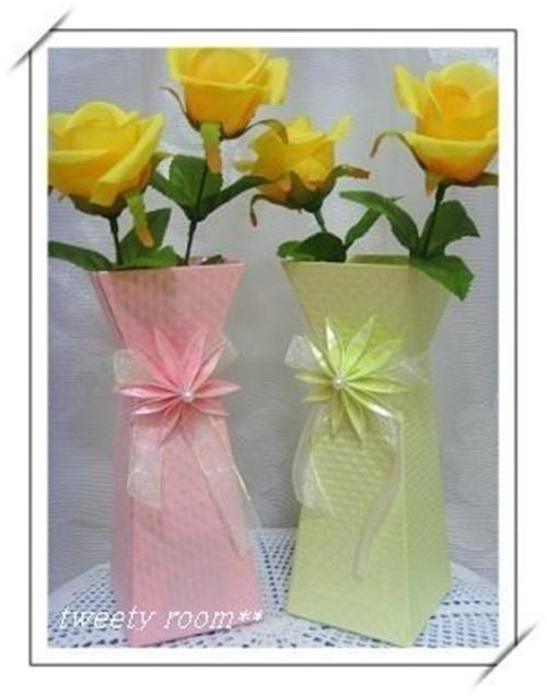 Diy Beautiful Paper Flower Vase 01 Cool Creativities