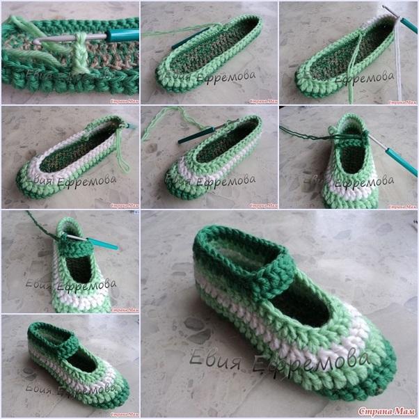DIY Crochet  Daisy Flower Ballet Shoes