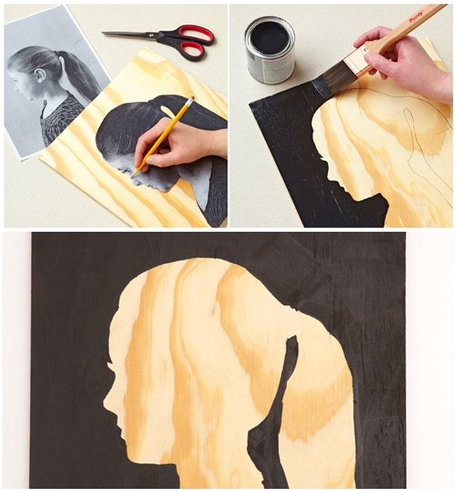 diy-easy-silhouette-wall-art - Cool Creativities
