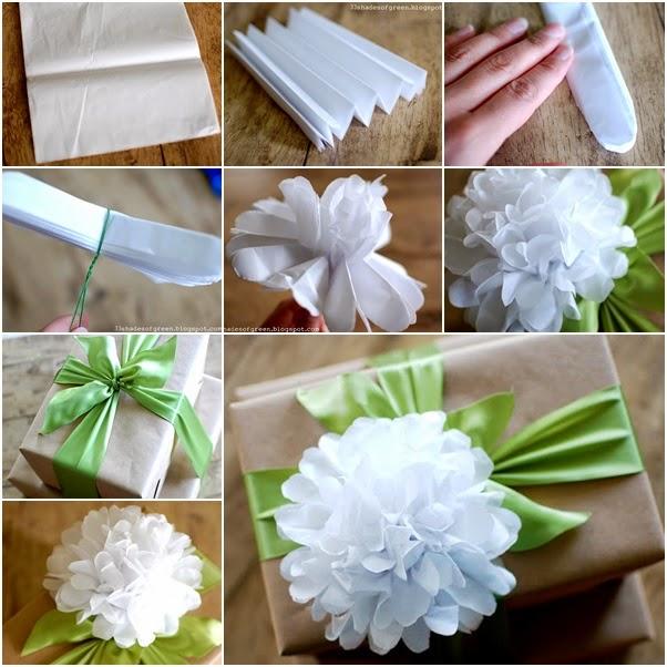 Diy Easy Tissue Gift Top Paper Flower