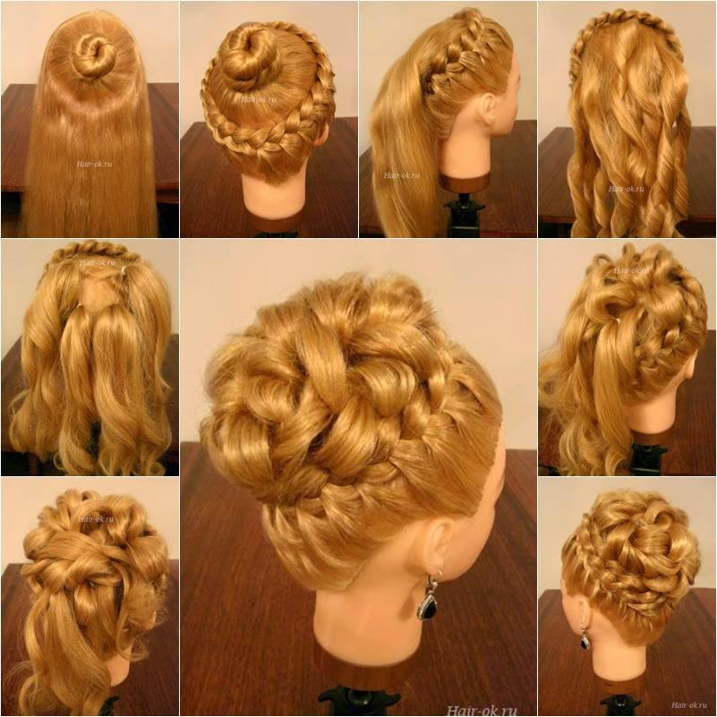 DIY Elegant Hairstyle With Braids and Curls