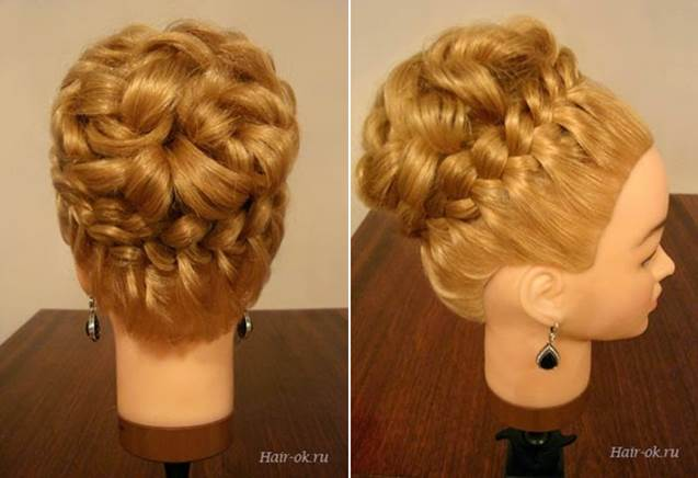 Diy elegant hairstyle with braids and curls Diy fashion of hairstyle