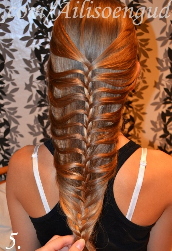 diy fishtail braid mermaid braid hairstyle. Black Bedroom Furniture Sets. Home Design Ideas