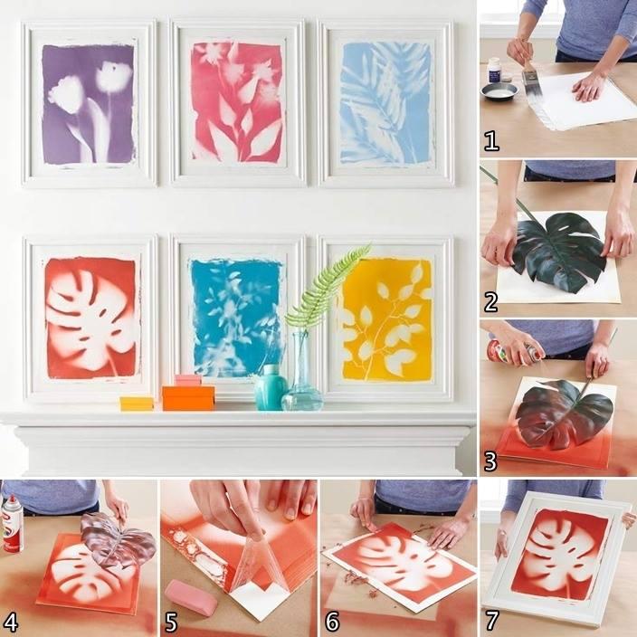 Decorating Paper Crafts For Home Decoration Interior Room: DIY Framed Botanical Prints Wall Art Decoration