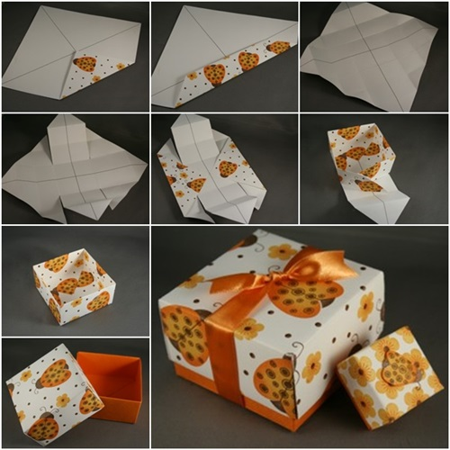 Celebrate It Occasions Favor Boxes With Lids Instructions : Diy paper origami gift box with lid