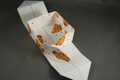 How to make origami box with connected lid