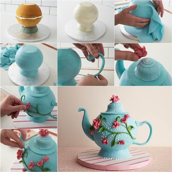 DIY Teapot Cake