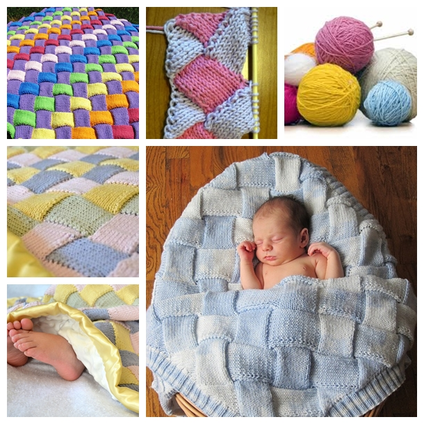DIY Cozy Entrelac Knit Baby Blanket
