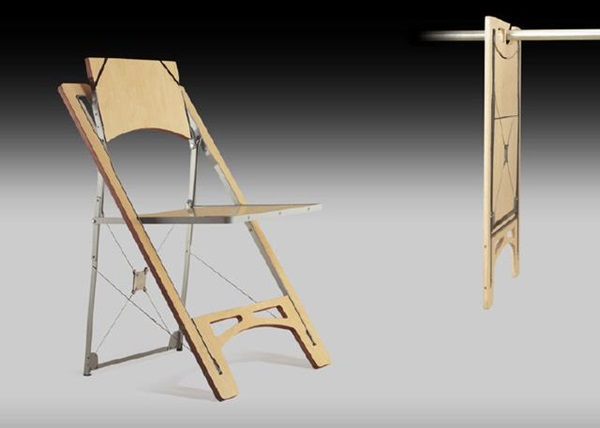 A chair that you can fold away into your closet once you're done using it.