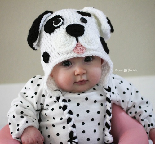 Animal Hat Crochet Patterns-Dalmatian Dog
