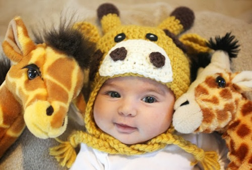 Animal Hat Crochet Patterns-Giraffe Hat