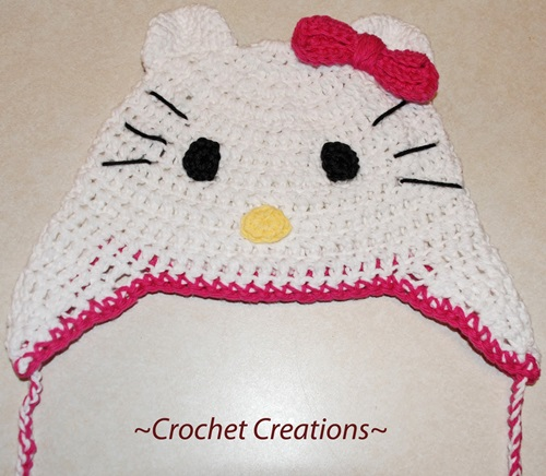 Animal Hat Crochet Patterns Hello Kitty Cool Creativities