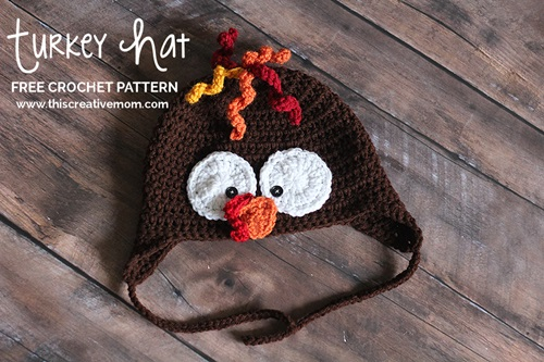 Crochet Turkey Cat Hat Pattern : 40+ Crochet Animal Hat with Patterns - Cool Creativities