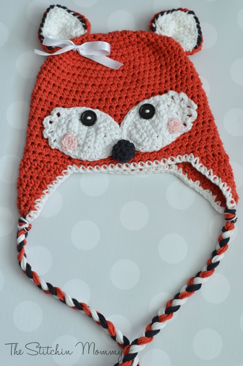 Animal Hat Crochet Patterns-fox
