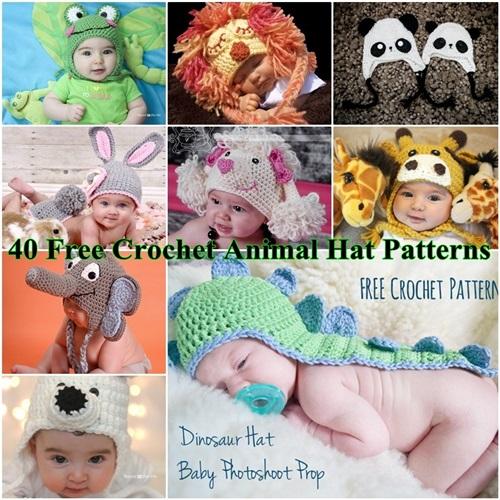 Animal Hat Crochet Patterns free-1 - Cool Creativities