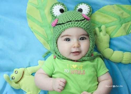 40+ Crochet Animal Hat with Patterns-frog