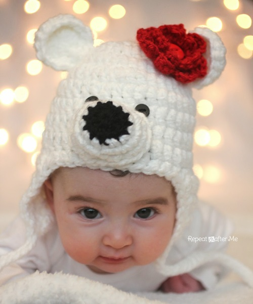 Animal Hat Crochet Patterns-polar bear
