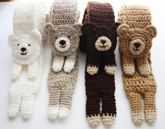 ˜DIY Crochet Fashion Bear Scarf