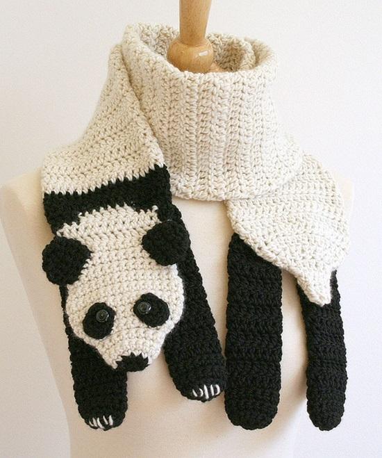 DIY Crochet Fashion Panda Bear Scarf