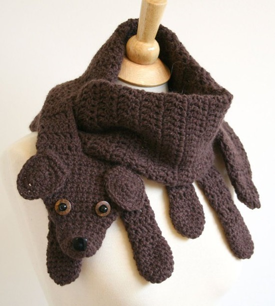 Free Crochet Patterns For Animal Scarves : DIY Crochet Fashion Animal Scarves