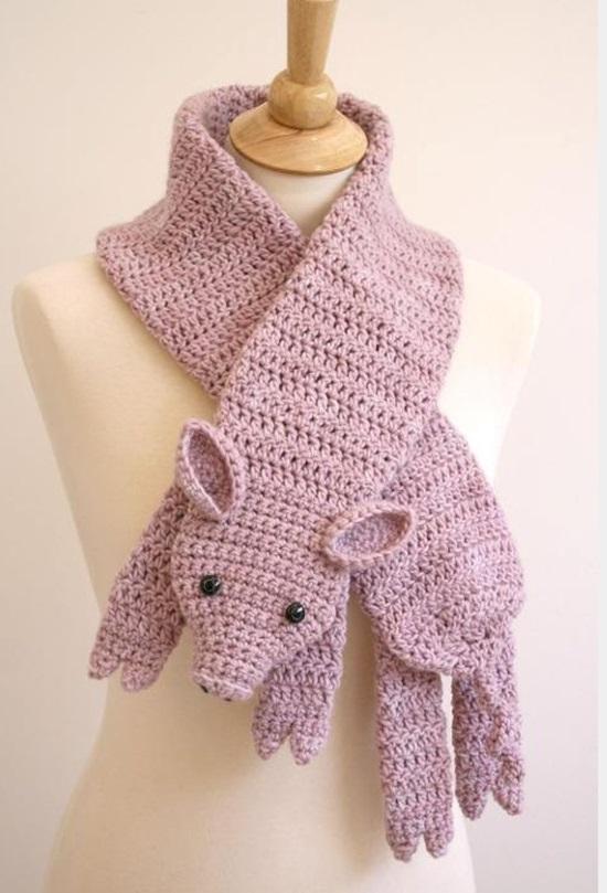 DIY Crochet Fashion Little Piggle Scarf