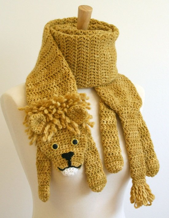 DIY Crochet Fashion lion Scarf