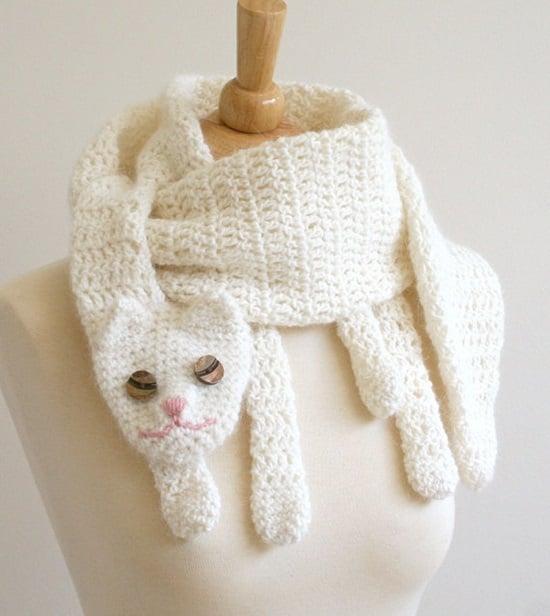 DIY Crochet Fashion Cat Cuddler Scarf