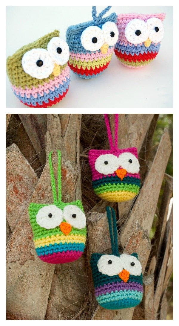 DIY Crochet Baby Owl Ornaments