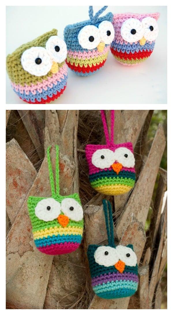 Crochet Owl Ornament Free Pattern
