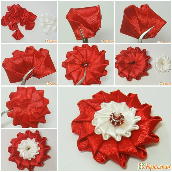 diy no sew ribbon flowers - photo #31