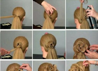 Diy Amazing Rose Flower Bun Hairstyle For Parties