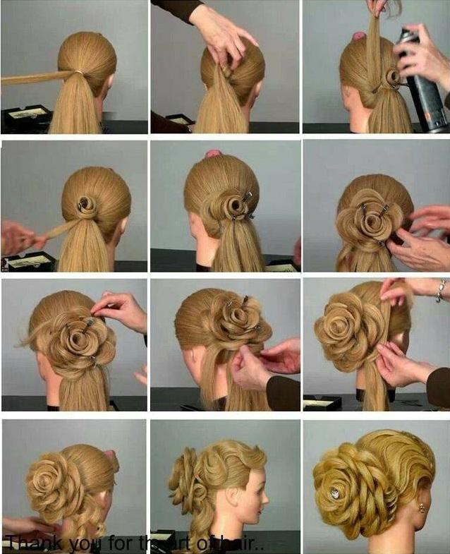 Admirable Diy Amazing Rose Flower Bun Hairstyle For Parties Schematic Wiring Diagrams Phreekkolirunnerswayorg