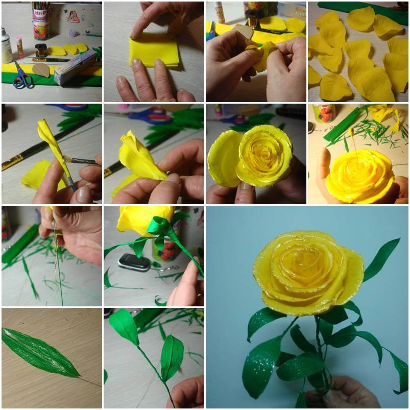 Diy handmade roses thumb cool creativities diy handmade roses thumb mightylinksfo