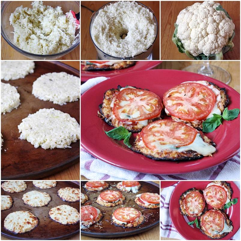 DIY Healthy bite-sized Mini Cauliflower Pizza Crusts -