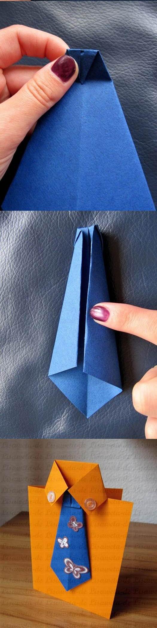 Открытка галстук своими руками поэтапно фото 19