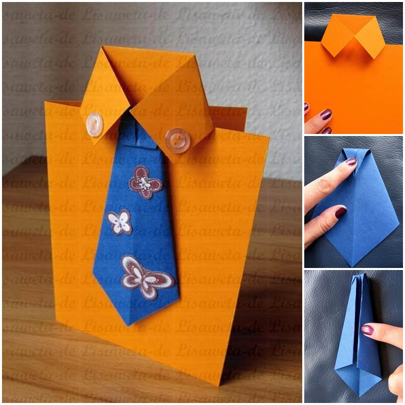 Diy tie and shirt greeting card for Crafts for men to make