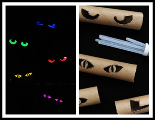 Diy Make Glowing Eyes With Toilet Paper