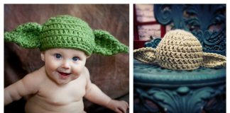 How to Crochet Yoda Hat with Free Pattern