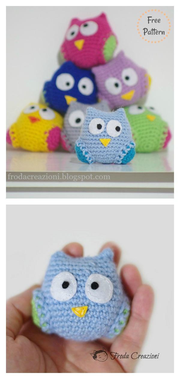 Little Owl Amigurumi Ornament Free Crochet Pattern