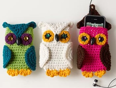 Crochet Owl Cell Phone Cozy